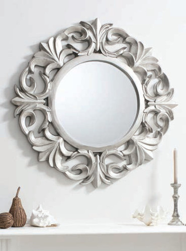 Ashton Mirror Pewter 40""