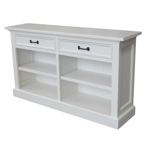 Geneva Console Bookcase - White