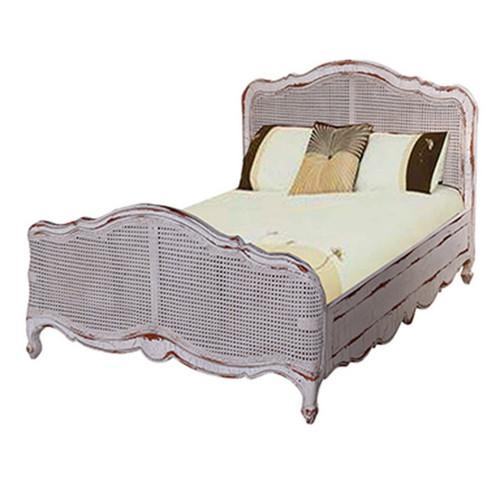 Covington Rattan Single Bed - Size: 109H x 109W x 213D (cm)