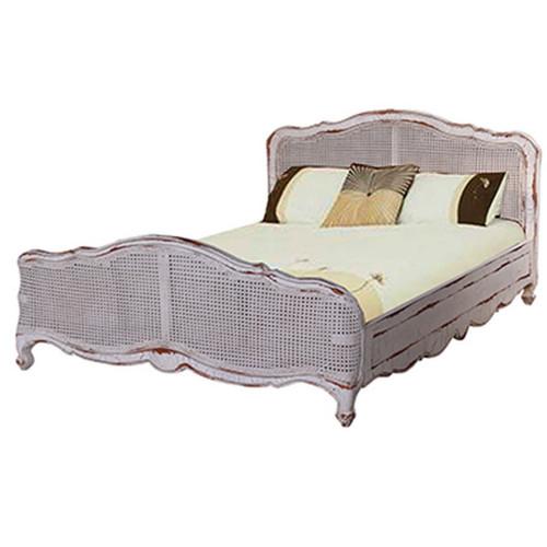 Covington Rattan King Bed - Size: 109H x 203W x 226D (cm)