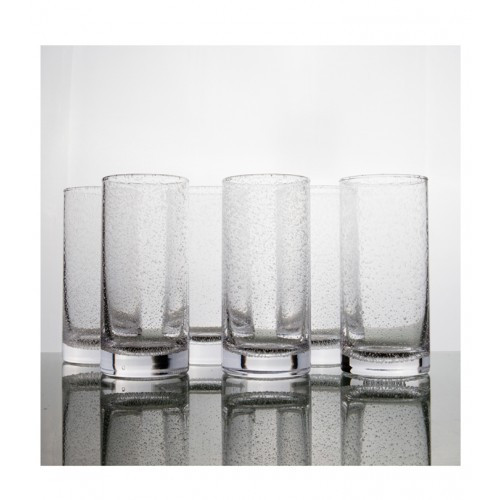 Bubble Highball Tumbler Glass Large - Set of 6