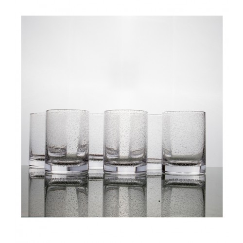 Bubble Highball Tumbler Glass Medium - Set of 6