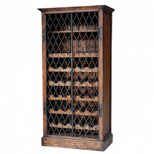 Sonoma Wine Cabinet - Dark Teak Brown