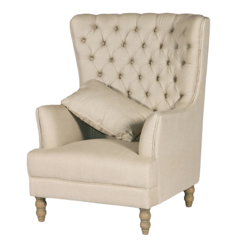 Monarch Wing Chair - Linen
