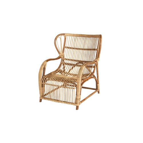 Cabana Rattan Wing Back Armchair