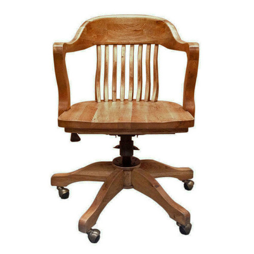 1940's Bankers Office Chair - Natural Oak