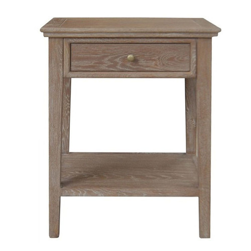 Alton 1 Drawer Bedside - Brown Oak Drifted
