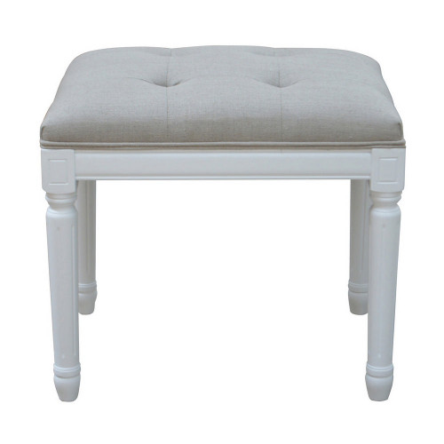 Bordeaux Tufted Stool - White