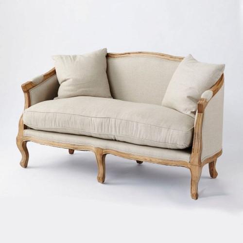 Moliere 2 Seat Sofa - Natural Oak/Linen