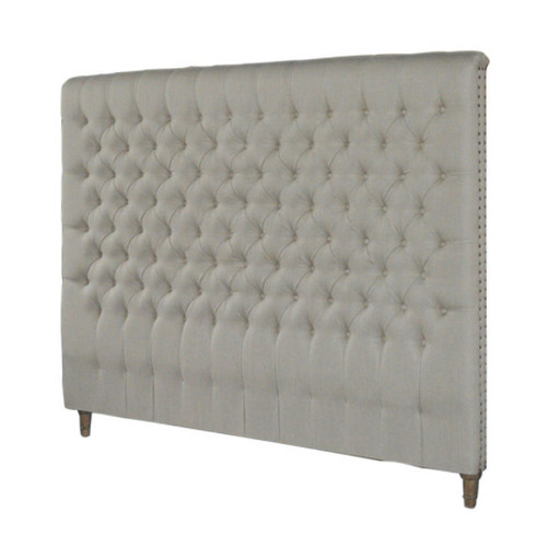 Marquis Chesterfield King Headboard (Natural Linen)