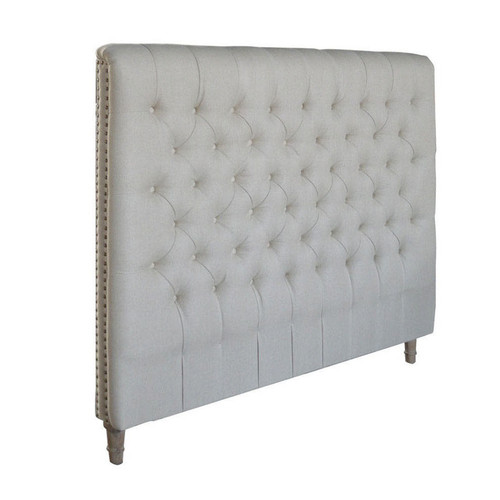 Marquis Chesterfield Double Headboard (Natural Linen)