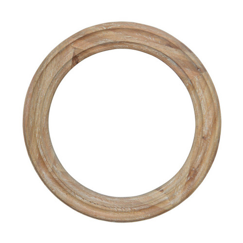 Ondine Circular Mirror - White Washed Oak
