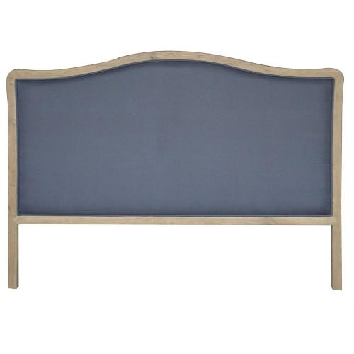 Antoinette Upholstered King Headboard - Charcoal Linen