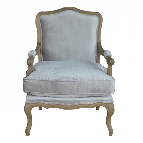 Henrietta Armchair - Weathered Oak/Velvet