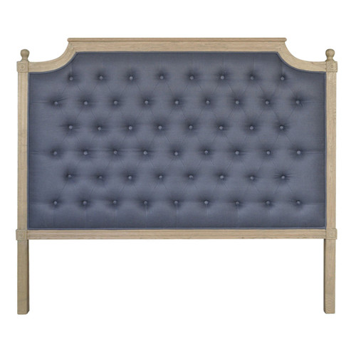 Francesca Tufted Queen Headboard - Charcoal Linen