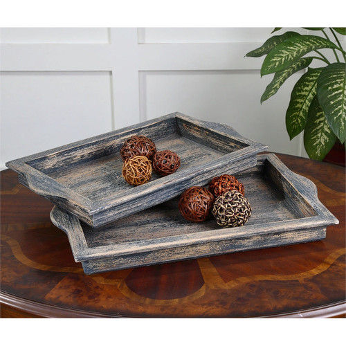 Bleu Trays - Set of 2