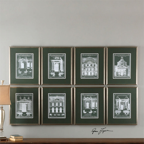 Architecturals Set of 8
