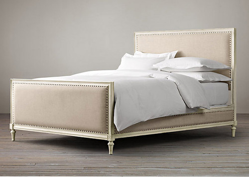 Bordeaux Upholstered King Bed Set (A/White)
