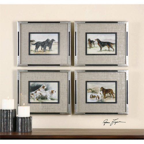 Working Dogs Set of 4 a Prints Framed by Uttermost