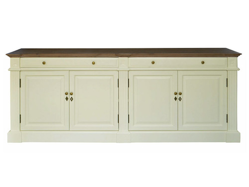 Montpellier Sideboard (A/White+ Weathered Oak)