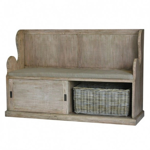 Lincoln Entry Bench large - Light Antique Oak /D00