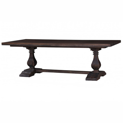 Provincial Trestle Dining Table 240cm - Cocoa
