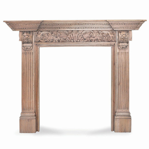 Charleston Mantel w/ Shell Motif - Any Colour
