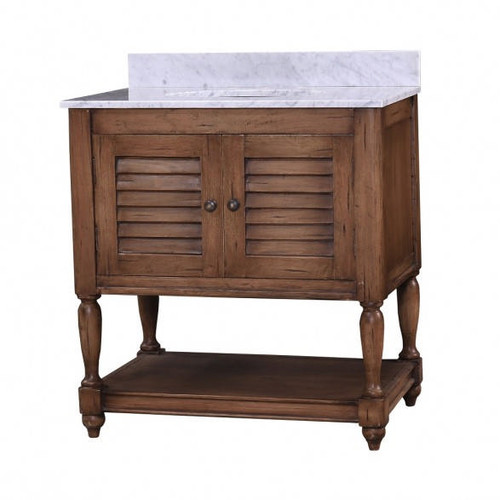 Orleans Guest Vanity w/Marble Top - Antique Oak /MBL