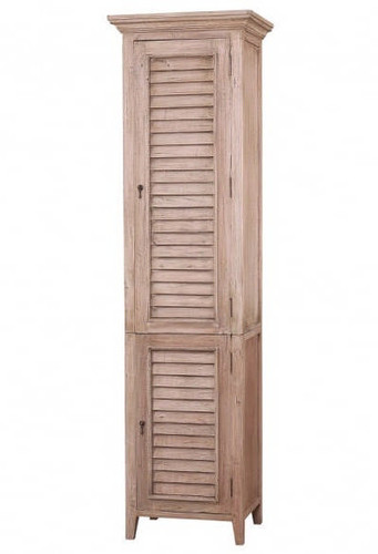 Shutter Tall Bath Cabinet - Light Antique Oak