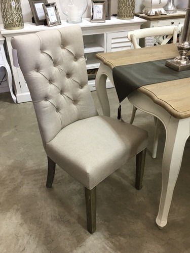 Esther Dining Chair - Beige Linen