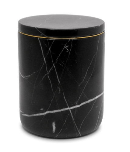 The Luxuriate Nero Marquina Marble Candle Vessel