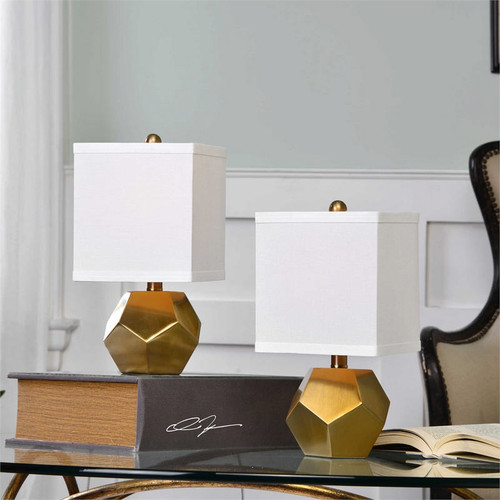Pentagon Cube Buffet Lamps - Set/2 by Uttermost