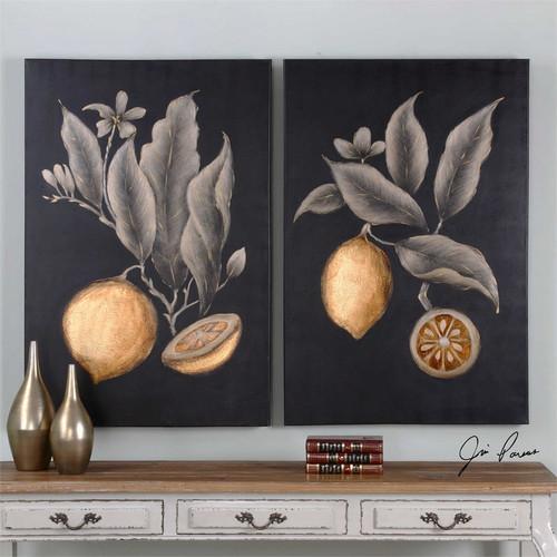 Citrus Study Set/2 - Hand Painted Artwork