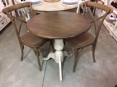 Paris Cafe Table and Chair Set - Antique Cream and Oak
