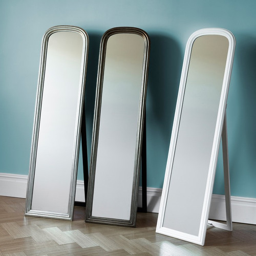Beck Cheval Mirror - Silver 63x17""