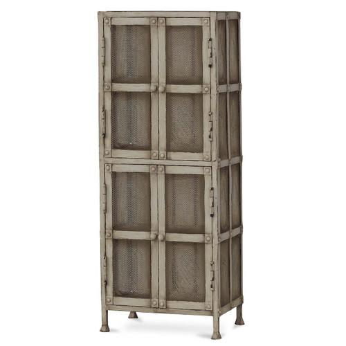 Urban Narrow Cabinet with Wire Mesh - Size: 152H x 61W x 64D (cm)