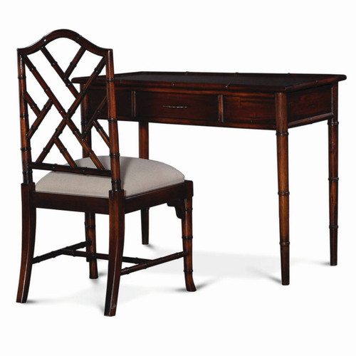 Martinique Faux Bamboo Desk w/Chair - Any Colour