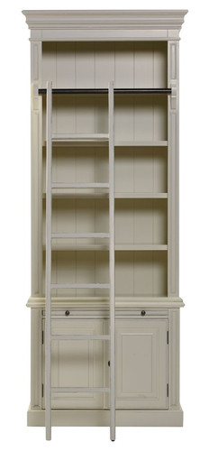 Classic 2 Door Bookcase + Ladder