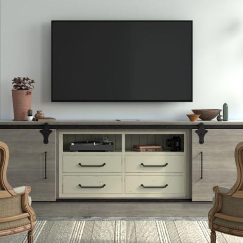 Sonoma Media TV Console Unit - Smokey Grey