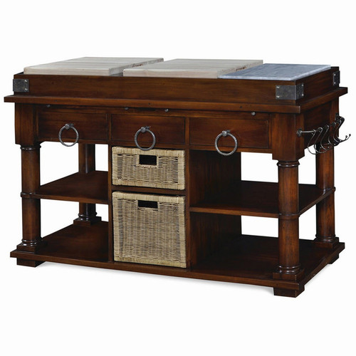 Cortland Kitchen Island w/Baskets - Any Colour