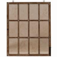 Italian Window w/ Distressed Glass - Size: 150H x 119W x 5D (cm)