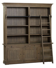 Bella House Florence Bookcase 3 Door + Ladder