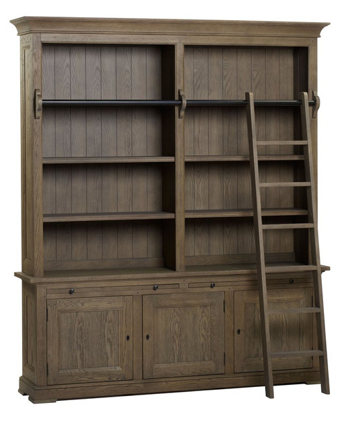 Bella House Florence Bookcase 3 Door + Ladder