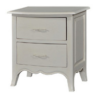 Bow-Front Bedside Cabinet - Size: 68H x 60W x 40D (cm)
