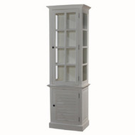 Cottage Tall Cabinet w/ Glass - Size: 210H x 66W x 41D (cm)