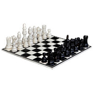 Gentlemens Club Chess Set - Size: 28H x 80W x 80D (cm)
