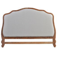Monaco Headboard Queen - White Light Distressed /FB77