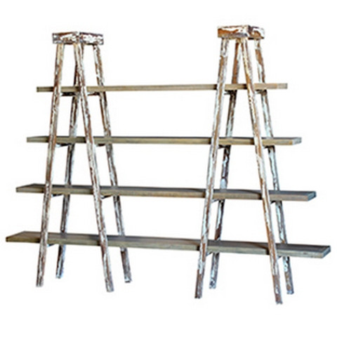 Taylor Double Ladder Shelf - Size: 180H x 232W x 40D (cm)