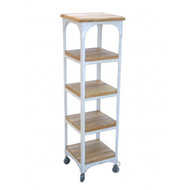 Industrial Bookcase 4 Shelf - White