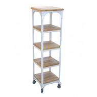 Industrial Bookcase 4 Shelf - White